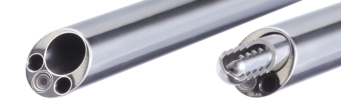 Foraminoscope with shrill blade in working channel