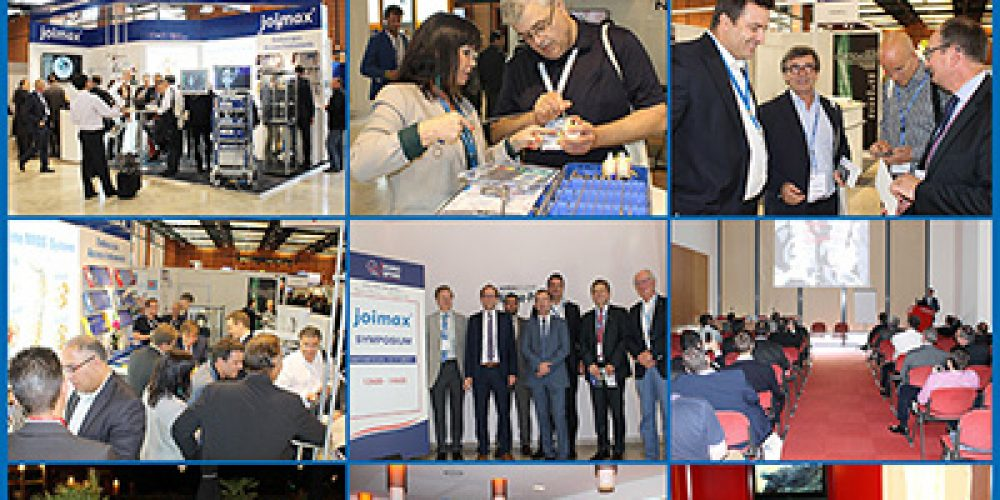 joimax® – The experts in minimally invasive endoscopic spinal surgery show flag at the EUROSPINE in Lyon