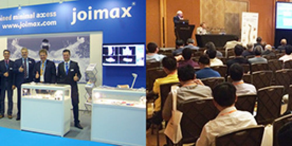 joimax® hosts SpineWeek symposium, leads live surgery broadcast during CAOS-NASS