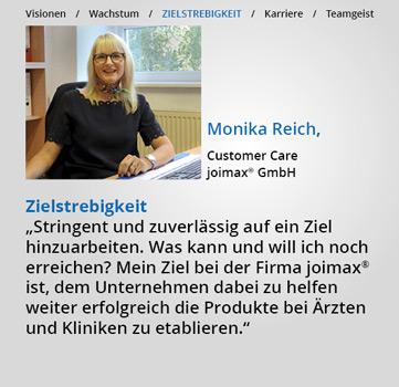Statements, Karriere-bei-joimax, Zielstrebigkeit, Monika Reich