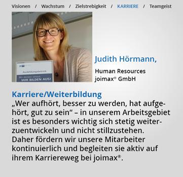 Statements, Karriere-bei-joimax, Karriere, Weiterbildung, Judith Hörmann