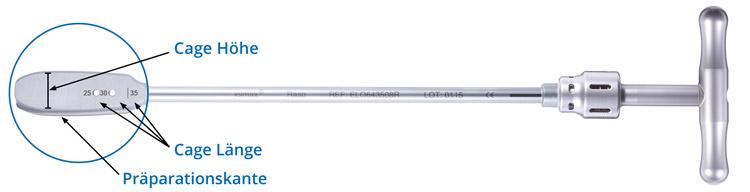 Endoskopische Wirbelsulenstabilisierung, wirbelsäule, Cages, Instrumente, Endoskopische Wirbelsäulenchirurgie, Rasperatorium
