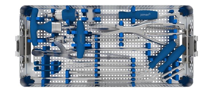 Endoskopisch, Wirbelsäule, stabilisieren, Wirbelsäulenimplantate Hersteller, deutschland, fusion wirbelsäule, schrauben-stab-system wirbeläule, pedikelschraube, Messung Stablänge, Zugangssieb