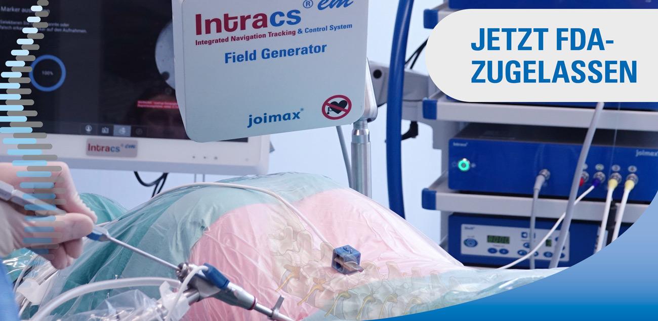 Intracs, EM Navigation, Navigierte Chirurgie, Wirbelsäule, joimax, Innovation, Direkt an der Spitze, Vectot tip target
